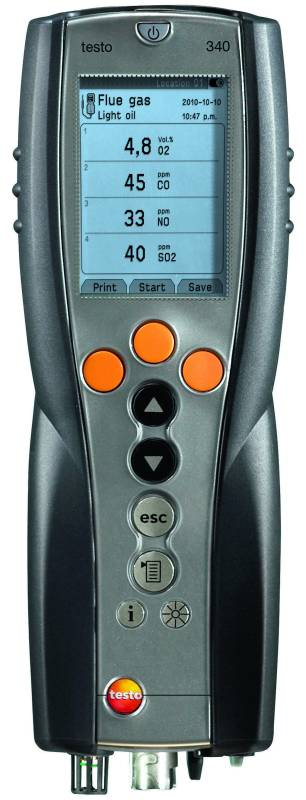 Testo 340 Industrial Flue Gas Analyser - Call for pricing