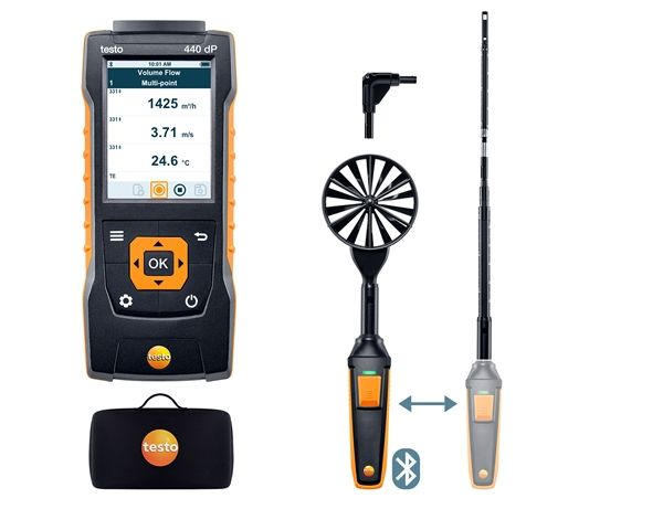 Testo 440 delta P Air Flow ComboKit 1 with Bluetooth