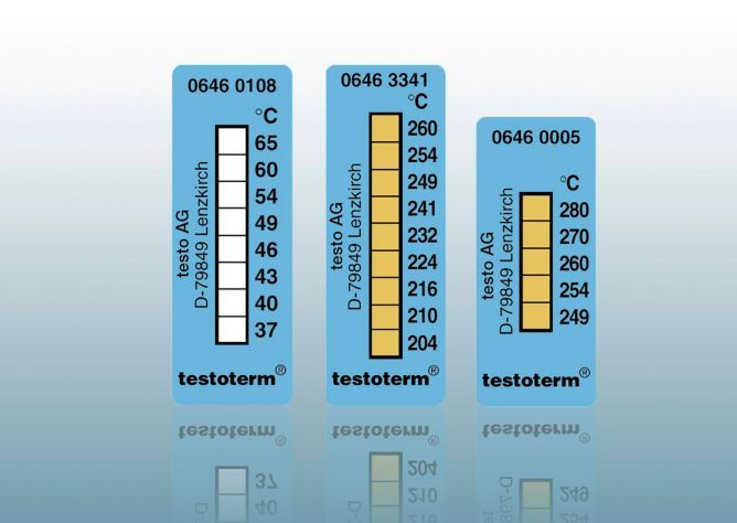 testoterm - Temperature strips  (+37 °C to +65 °C)